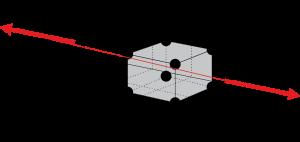 Fig. 4 - Ad un generico stato di sollecitazione corrisponde una deformazione del reticolo cristallino, e quindi una variazione delle diverse distanze interplanari.