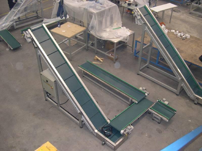 Nastri trasportatori ari metal il progettista industriale - Tappeto trasportatore ...