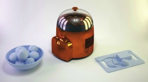 Iglo, essiccatore domestico di rifiuti organici ideato dal designer Nicola Ferrari, vincitore del Dyson Design Award Italia