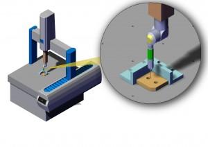 Fig. 1- Il controllo delle tolleranze geometriche per la stragrande maggioranza di pezzi prodotti si realizza attraverso l'elaborazione manuale dei dati raccolti con strumenti di misura tradizionali, o via software, utilizzando una macchina di misura a coordinate.