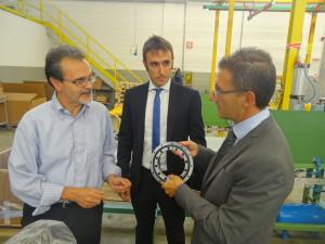 A sinistra, Giovanni Degrà, General Manager di CPM S.p.A. (Nova MIlanese, MB). Poi, Paolo Salgari, Sales Engineer & Marketing Manager, e Lorenzo Santambrogio, Technical Department Manager.