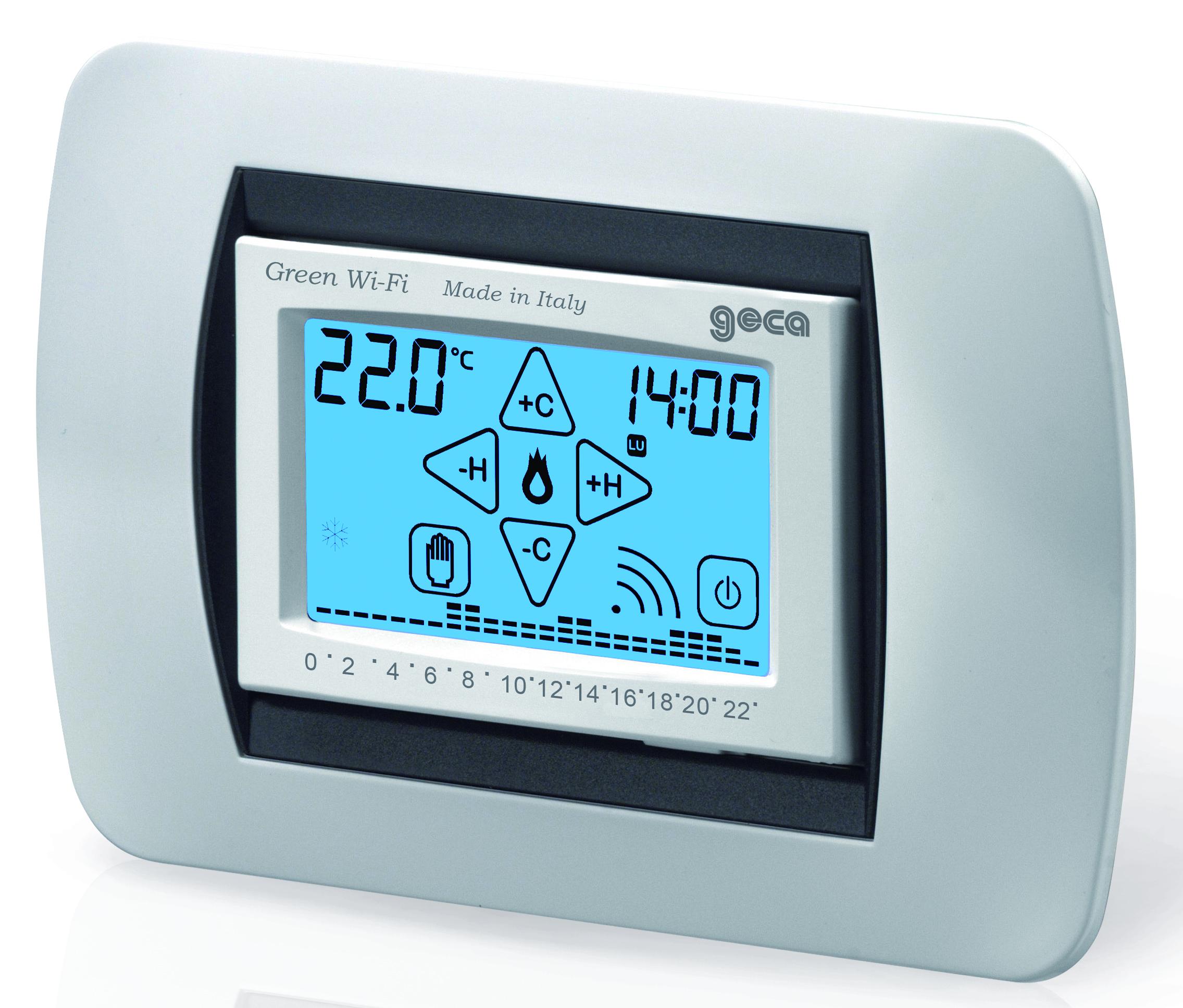 Cronotermostato da incasso wi fi multiplacca il for Geca unico termostato istruzioni
