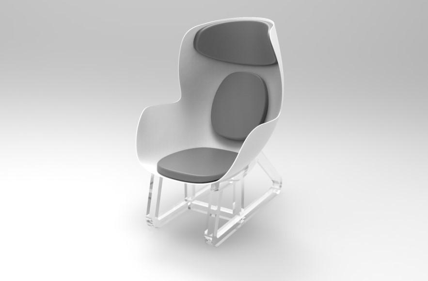 Il manichino e la sedia intelligenti entrambi il progettista