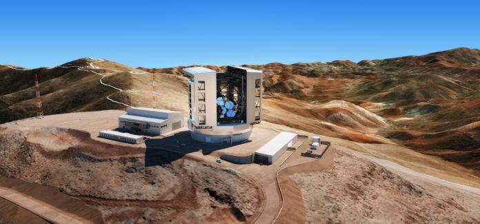 Rendering del Telescopio Gigante Magellan.